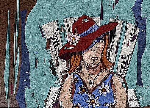 Art: Door County Woman by Artist Alma Lee