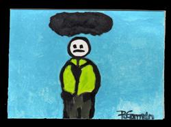 Art: Dark Cloud (sold) by Artist PJ Gorman