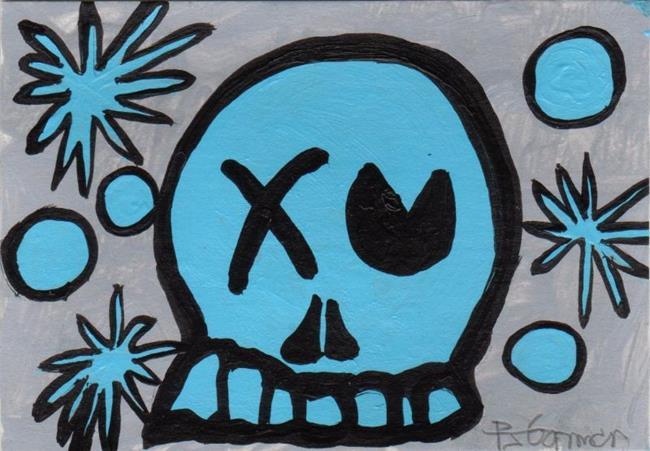 Art: Liquid Blue Skully by Artist PJ Gorman