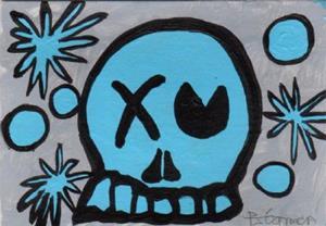 Detail Image for art Liquid Blue Skully