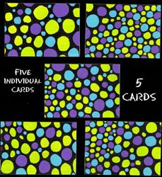 Art: Set of 5 Meditation cards-(sold) by Artist PJ Gorman