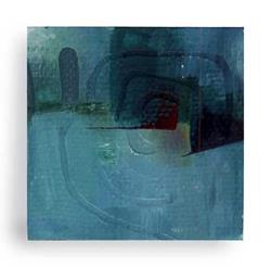 Art: Mini Oil Abstrract 6 by Artist Kathy Morton-Stanion