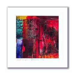 Art: Mini Oil Abstract #6 by Artist Kathy Morton-Stanion