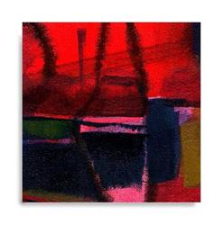 Art: MINI ABSTRACT OIL 19 by Artist Kathy Morton-Stanion
