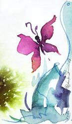 Art: Mini Butterfly Dreams by Artist Kathy Morton-Stanion