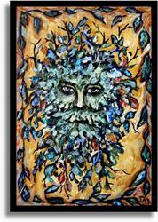 Art: The Greenman ~ Sold by Artist Dana Marie