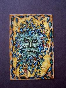 Detail Image for art The Greenman ~ Sold