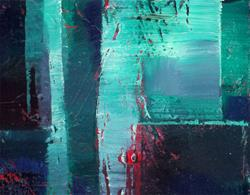 Art: Oil Abstract 1 by Artist Kathy Morton-Stanion