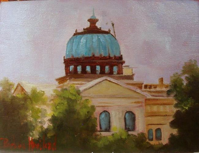 Art: Orange Church overview by Artist Barbara Haviland