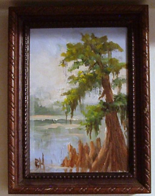 Art: miniature Cypress Tree by Artist Barbara Haviland