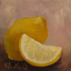 Art: Lemons and a Wedge by Artist Barbara Haviland