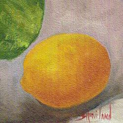 Art: Lemon and a Melon by Artist Barbara Haviland