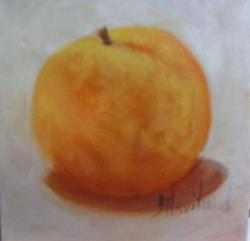 Art: Peach from my Yard by Artist Barbara Haviland