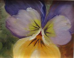 Art: Pansy miniature by Barbara Haviland by Artist Barbara Haviland