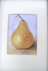 Art: Matted Pear by Artist Barbara Haviland
