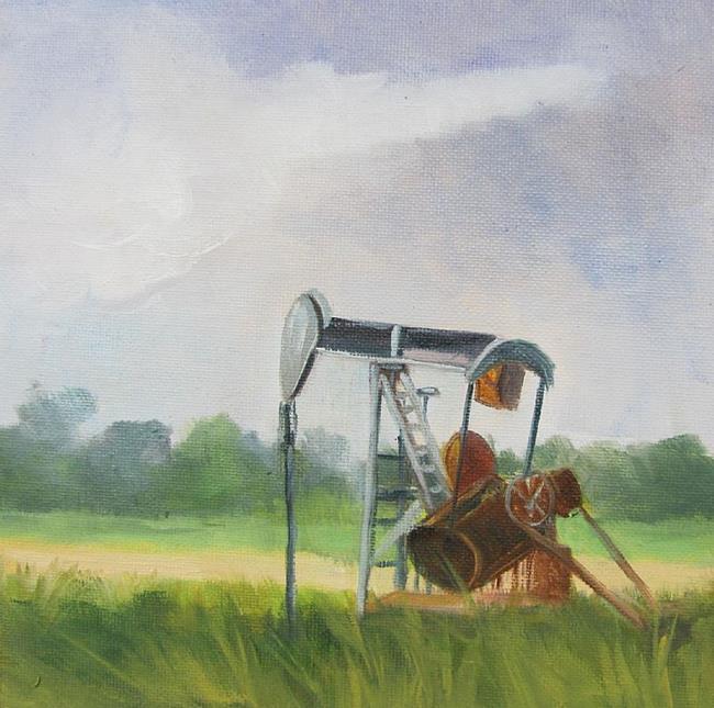 Art: Pumping Jack by Artist Barbara Haviland