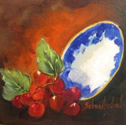 Art: 6x6 bowl grapes 010.JPG by Artist Barbara Haviland