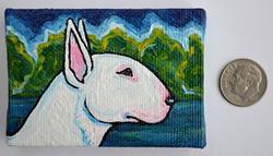 Art: Bull Terrier Landscape by Artist Melinda Dalke