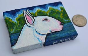 Detail Image for art Bull Terrier Landscape