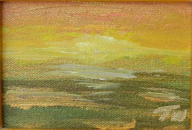 Art: Sunset Meadow Miniature SOLD by Artist Terri L West