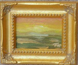 Detail Image for art Sunset Meadow Miniature SOLD