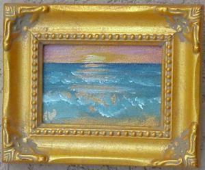 Detail Image for art Beach Sunrise Miniature SOLD