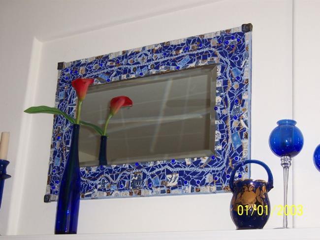 Art: Mum's Mirror Frame by Artist Dorothy Edwards