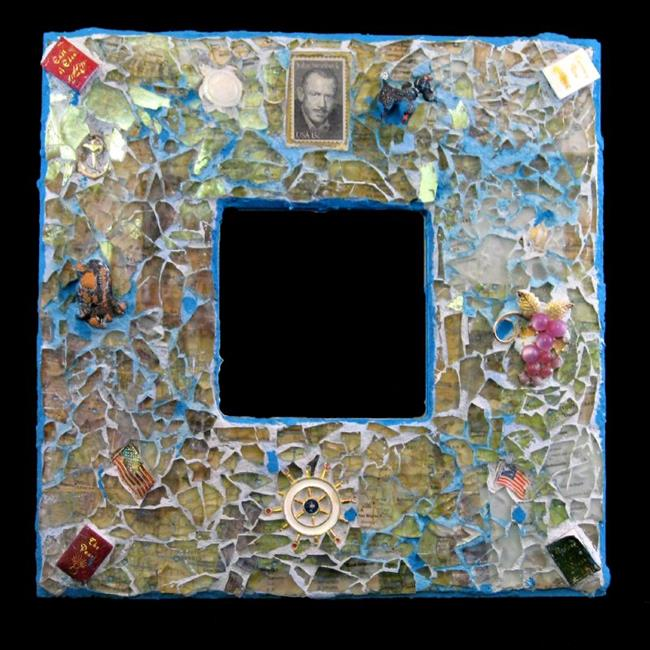 Art: Steinbeck Mirror (available) by Artist Dorothy Edwards