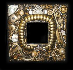 Art: Costume Jewelry Mirror (sold) by Artist Dorothy Edwards