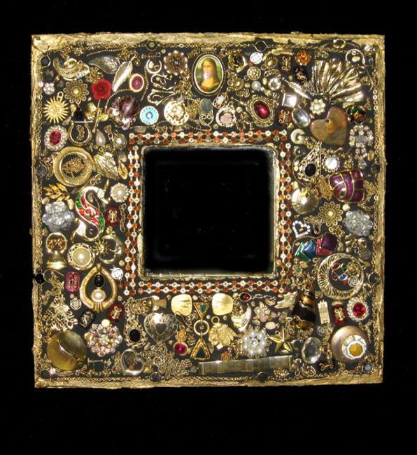 Art: Mona Mirror (sold) by Artist Dorothy Edwards