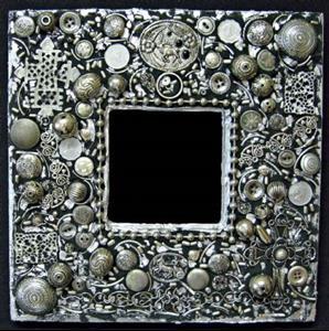 Detail Image for art Silver Deer Mirror (sold)