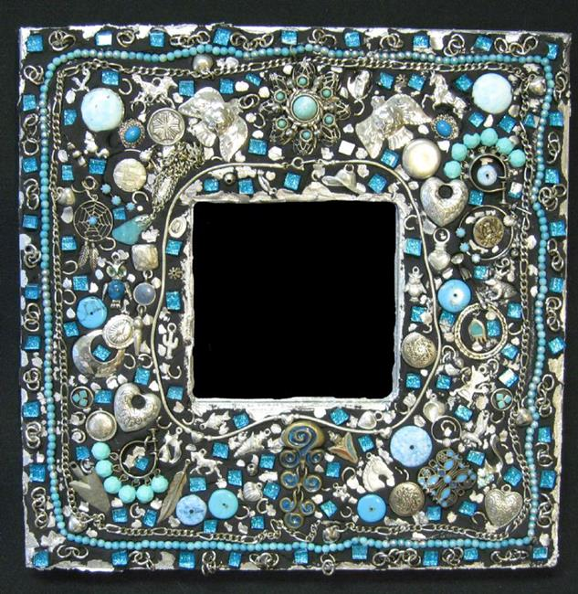 Art: Turquoise Mirror (available) by Artist Dorothy Edwards