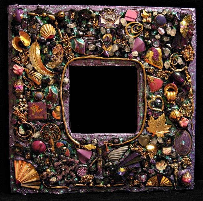Art: Purple Mirror (sold) by Artist Dorothy Edwards