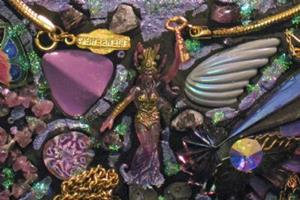 Detail Image for art Purple Mirror (sold)