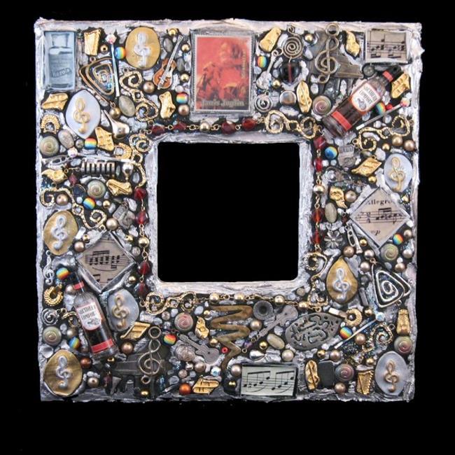 Art: Janis Joplin Mirror (sold) by Artist Dorothy Edwards