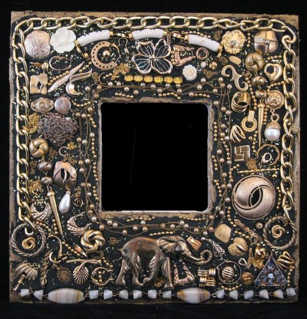 Art: Elephant Mirror (buddy piece) by Artist Dorothy Edwards