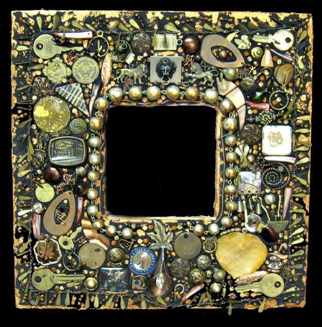 Art: Brass Lion Mirror (sold) by Artist Dorothy Edwards
