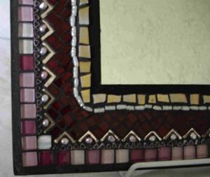 Detail Image for art Middle Eastern Style Red Mirror (sold)