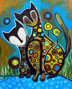 Detail Image for art Couch Cats