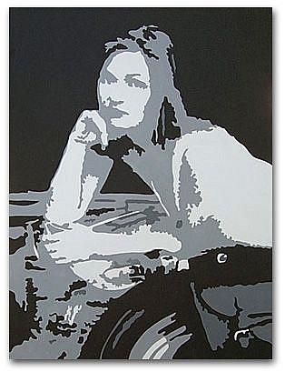 Art: Portrait of Jen Thoman by Artist Lori Rase Hall