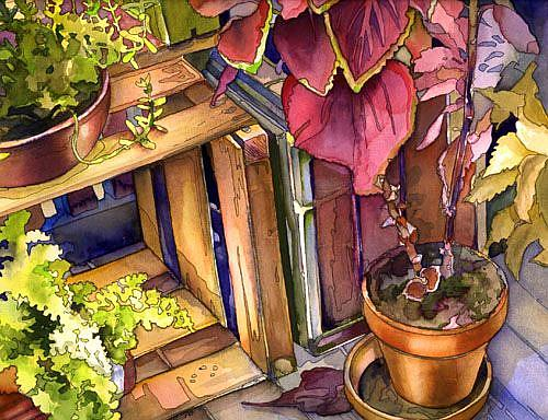 Art: Porch Crate by Artist Lori Rase Hall