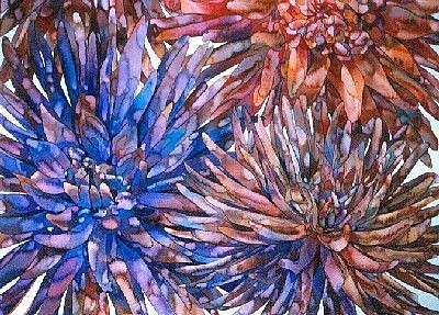 Art: Dahlias by Artist Lori Rase Hall
