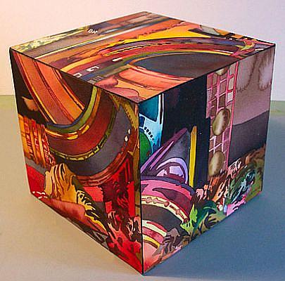Art: Juke Box Cube by Artist Lori Rase Hall