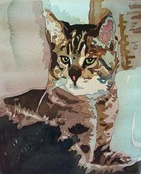 Art: Pond's Beeber Kitty by Artist Lori Rase Hall
