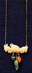 Detail Image for art Green Piece - Kitten Pendant