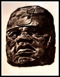 Art: Godhead#4 Olmec by Artist David Mott