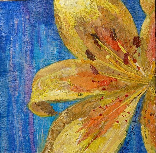 Art: Lilting Lily by Artist Karen Lynn Evans