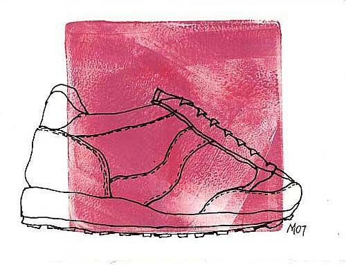 Art: SHOE SKETCH 01 by Artist Gabriele Maurus