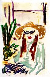 Art: MILDRED AND HER SANSEVIERIA WERE UNSEPARABLE by Artist Gabriele M.