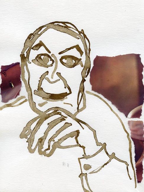 Art: Ink Portrait 7 by Artist Gabriele Maurus